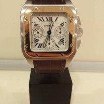 Cartier Santos 100 Chronograph XL  Steel/18k Yellow Gold