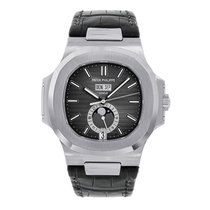 Patek Philippe Nautilus 5726 Men's Stainless Steel Leather...