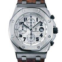 Audemars Piguet Royal Oak Offshore Chronograph occasion 42mm Blanc Chronographe Date Cuir de crocodile