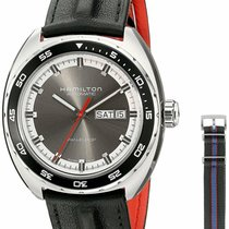 Hamilton Pan Europ Steel 42mm Grey United States of America, New Jersey, Cherry Hill