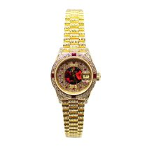Rolex Lady-Datejust Diamond Dial, Bezel and band Gold 18Kt