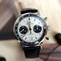 Hamilton INTRA-MATIC CHRONOGRAPH 40mm White Dial Black Leather...