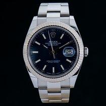 Rolex Datejust 41, Referenz 126334, Blue, Full Set, LC100