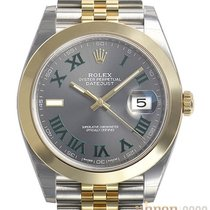Rolex new Automatic Center Seconds Luminescent Hands Chronometer Screw-Down Crown Luminous indexes 41mm Gold/Steel Sapphire Glass