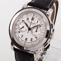 Patek Philippe Chronograph White gold 42mm Silver Arabic numerals