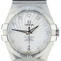 Omega Constellation Ladies pre-owned 36mm Silver Date Steel