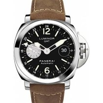 Panerai Luminor GMT Automatic Acero Negro Árabes