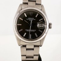 Rolex Oyster Perpetual Date Steel 34mm Black No numerals
