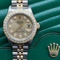 Rolex Lady-Datejust occasion 26mm Blanc Date Or/Acier