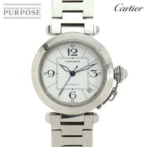 Cartier Pasha C pre-owned 35mm White Date Steel
