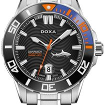 Doxa Steel 46mm Automatic D200SBU SHARK CERAMICA 300m new