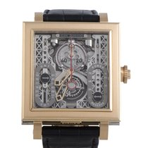 Jean Dunand Palace 5100 Toubillon GMT Square Watch