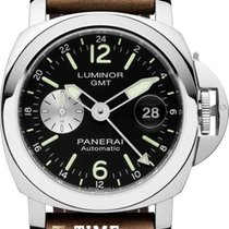 Panerai Luminor GMT Automatic Acero 44mm Negro Árabes