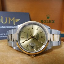 Rolex Oyster Perpetual Date-Stahl/Gold-15203-REVISION 02/18-BOX