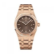 Audemars Piguet Rose gold Quartz Brown No numerals 33mm new Royal Oak Lady