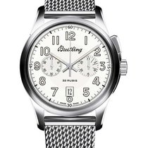 Breitling Transocean Chronograph 1915 43mm Silver United States of America, California, Beverly Hills