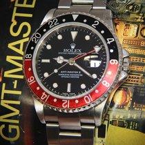 "Rolex GMT-Master II Steel Black/Red ""Coke"" Bezel Mens Automati..."