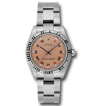 Rolex Oyster Perpetual 31 Steel 31mm Pink Roman numerals