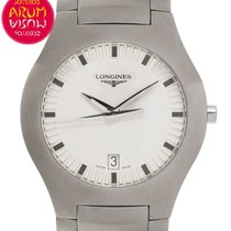 Longines Oposition pre-owned 36mm White Date Steel