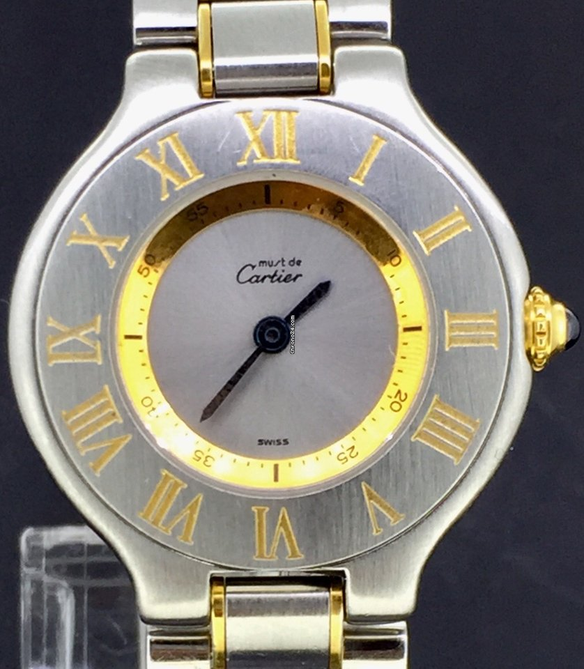 Cartier 21 Must de Cartier GoldSteel 28MM Quartz BOX