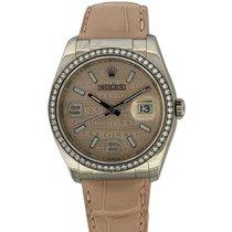Rolex Or blanc Remontage automatique Rose Arabes 36mm nouveau Datejust