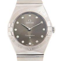 Omega Constellation Quartz Steel 28mm Grey