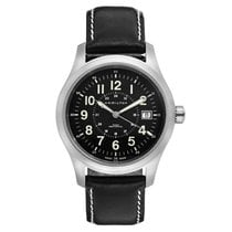 Hamilton Khaki Field Officer Steel 49mm Black Arabic numerals