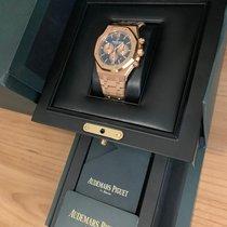 Audemars Piguet Royal Oak Chronograph Pозовое золото 41mm Синий Без цифр Россия, Москва