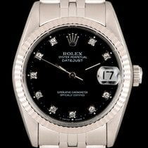 Rolex Lady-Datejust usados 31mm Negro Fecha Acero
