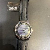 Seiko Steel 44mm Automatic Seiko SNKN07 Black and Blue face black leather band new United States of America, Texas, Frisco