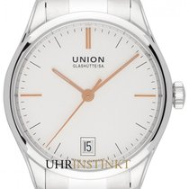 Union Glashütte Viro Date Steel 34mm Silver