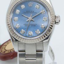 Rolex Steel Automatic Blue Arabic numerals 26mm pre-owned Oyster Perpetual 26