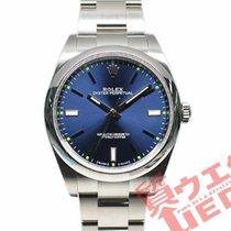 Rolex Oyster Perpetual 39 Stahl 39mm Blau