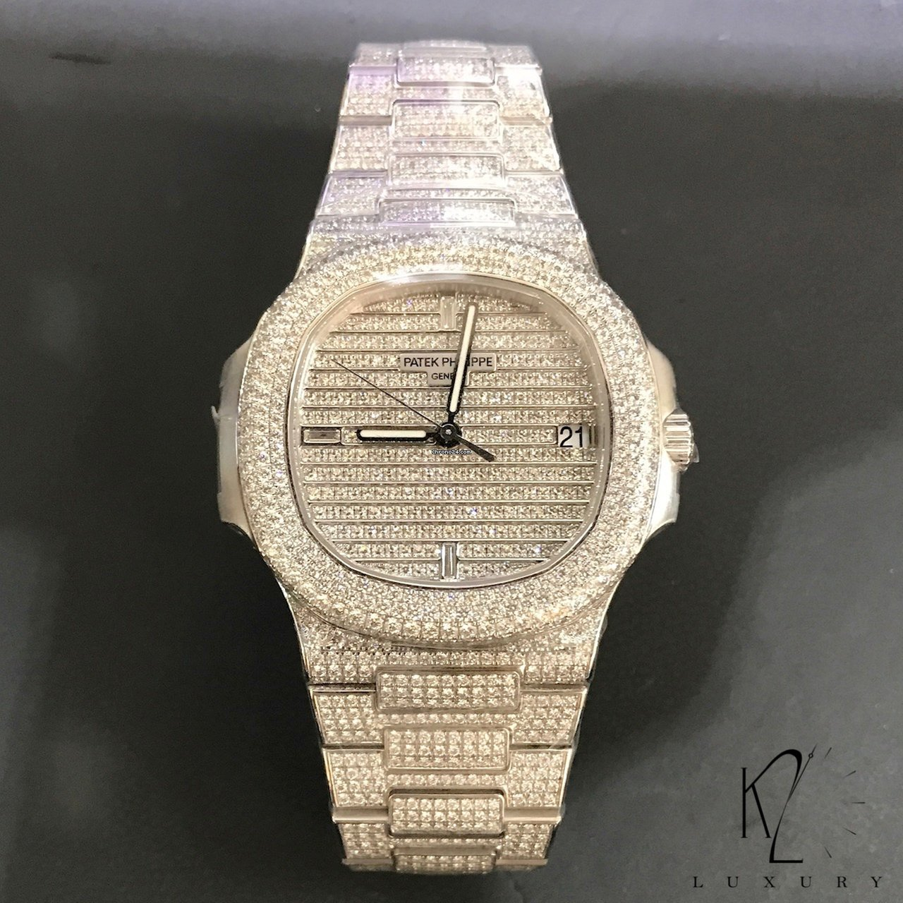 4321fb1f79d Patek Philippe 5719/1G Nautilus white gold diamond paved for $250,000 for  sale from a Trusted Seller on Chrono24