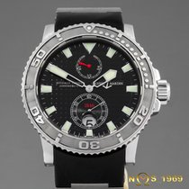 Ulysse Nardin Steel Automatic Black No numerals 42,70mm pre-owned Maxi Marine Diver