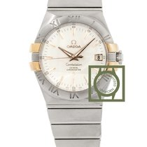 Omega Constellation Co-Axial 35mm Steel Pink Gold NEW