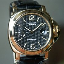 Panerai PAM 140 Luminor Marina Carbon Dial Yellow Gold 44 mm