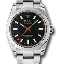 Rolex 116400 bko Oyster Perpetual Milgauss 40m Men's Watch