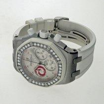 Audemars Piguet Royal Oak Offshore Lady gebraucht 37mm Weiß Chronograph Datum Kautschuk