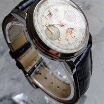 Baume & Mercier Steel Manual winding Vintage Baume & Mercier triple calendar chronograph moonpha pre-owned