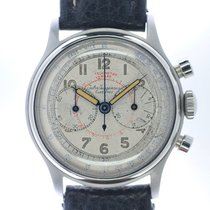 Jules Jürgensen Steel 33mm Chronograph pre-owned