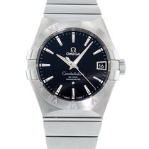Omega Constellation Men Steel 38mm Black