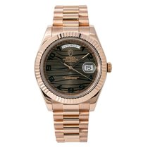 Rolex Rose gold Automatic Bronze Arabic numerals 41mm pre-owned Day-Date II