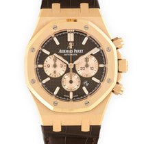 Audemars Piguet Red gold Automatic Brown 41mm pre-owned Royal Oak Chronograph