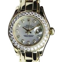 Rolex Automatic Mother of pearl 29mm pre-owned Lady-Datejust Pearlmaster