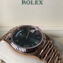 Rolex Rose gold Automatic Green 40mm new Day-Date 40