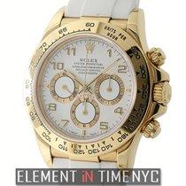 Rolex Daytona 18k Yellow Gold White Dial Zenith Movement