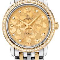 Omega De Ville Prestige Acero y oro 27.4mm Champán