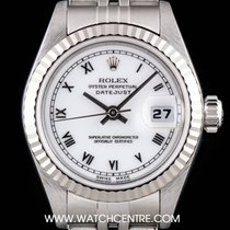 Rolex Stainless Steel White Dial Datejust Ladies B&P 69174