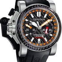 Graham Chronofighter Oversize Commander Titanium and Carbon...
